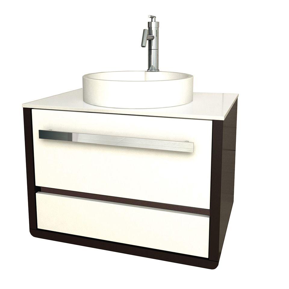 Muebles wengue y blanco beautiful mueble de bao lux with for Mueble wengue y blanco