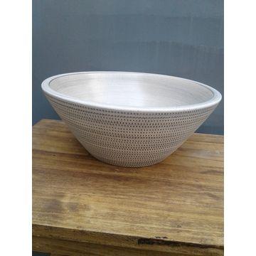 Bacha-de-Ceramica-Eliptica-Panal-Gris