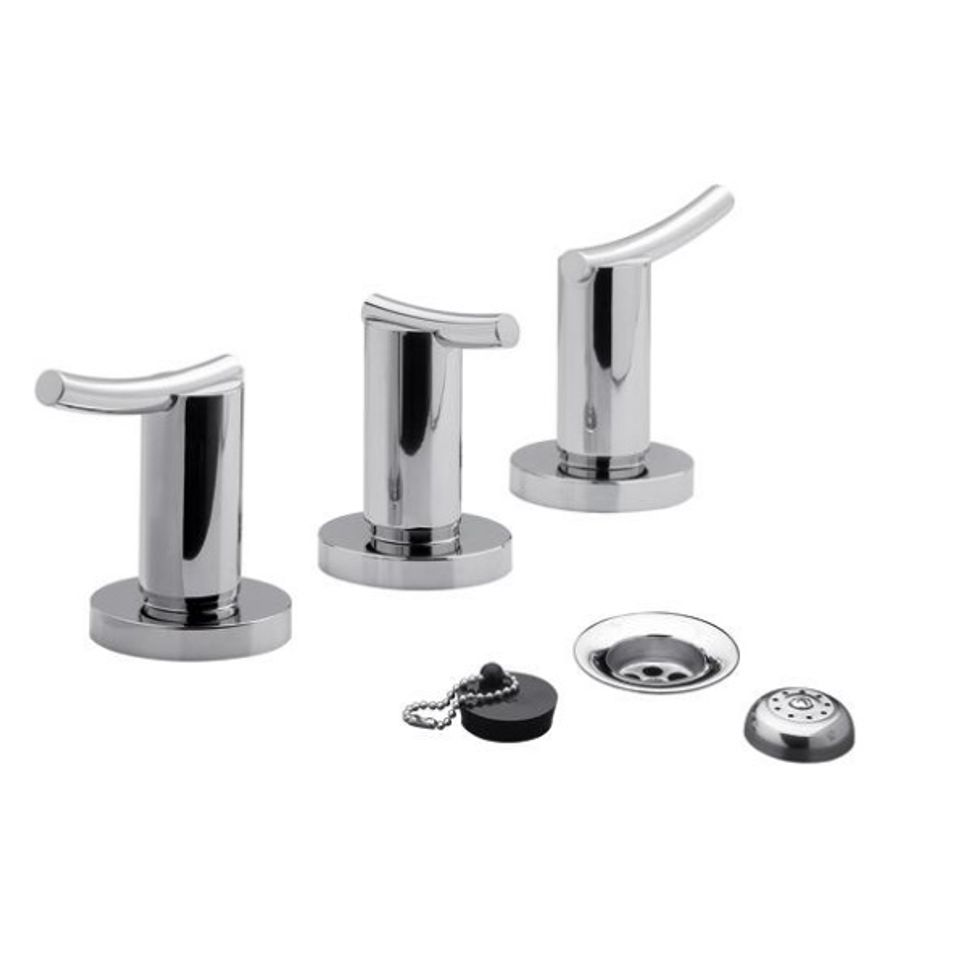 Grifer a de bidet desag e con tapa con 2 llaves y for Desague bidet