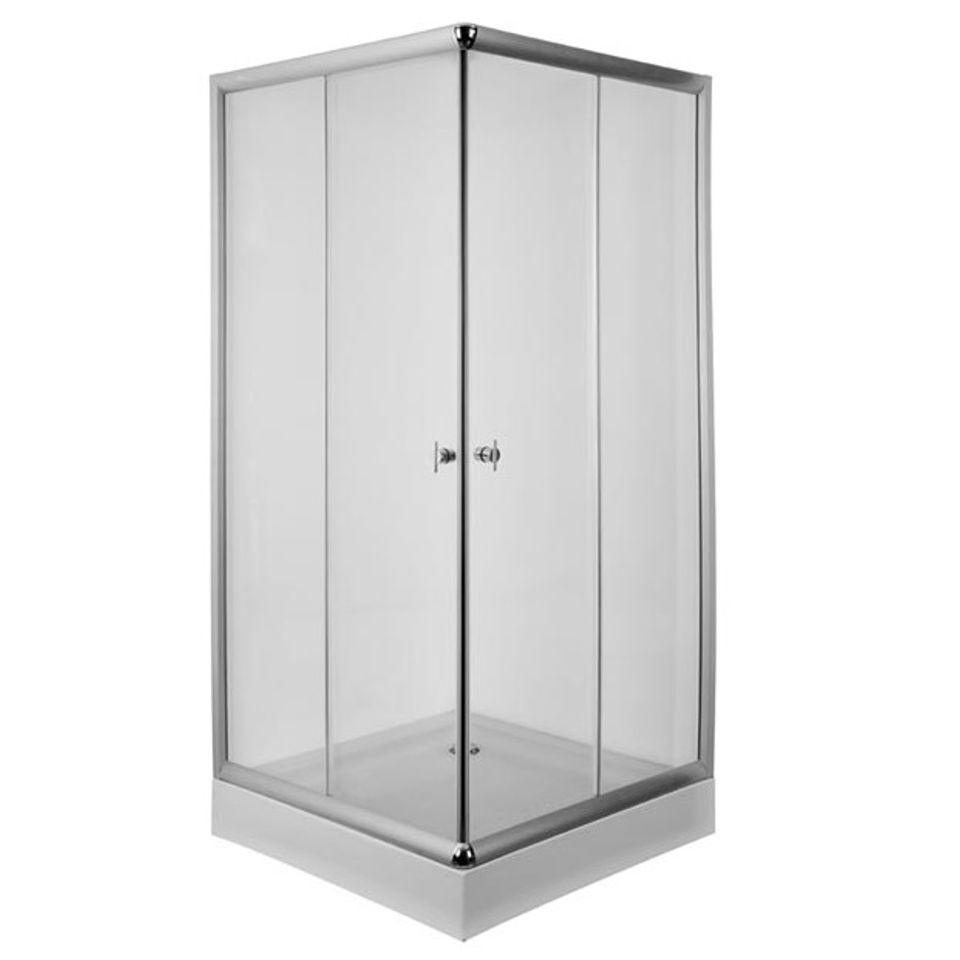 Cabina de ducha recta 90x90 cm blaisten - Cabina de duchas ...