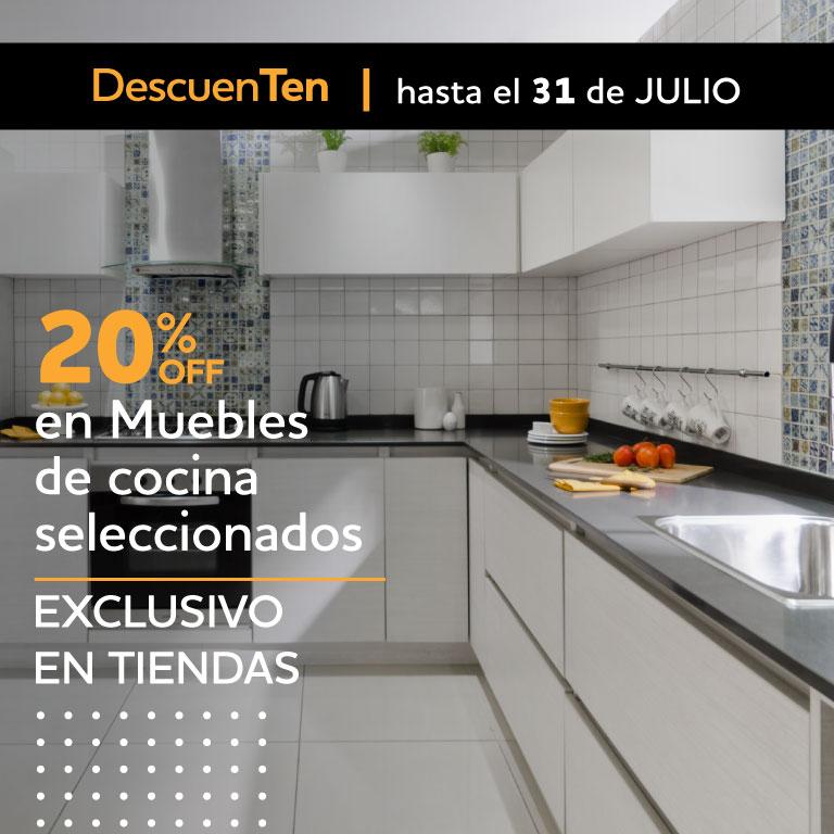 20% EN MUEBLES COCINA TIENDAS