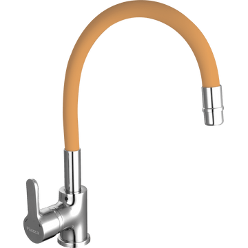 Griferia-para-Cocina-con-Pico-Flexible-Emblem-Naranja