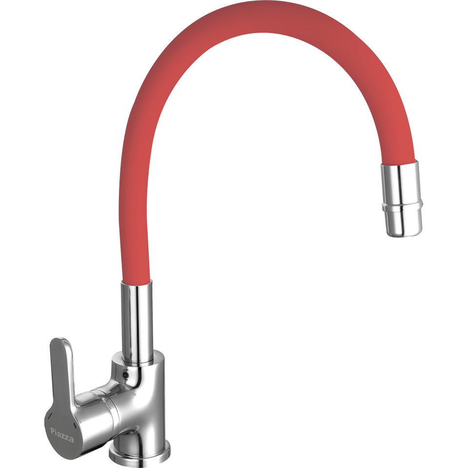 Griferia-para-Cocina-con-Pico-Flexible-Emblem-Rojo