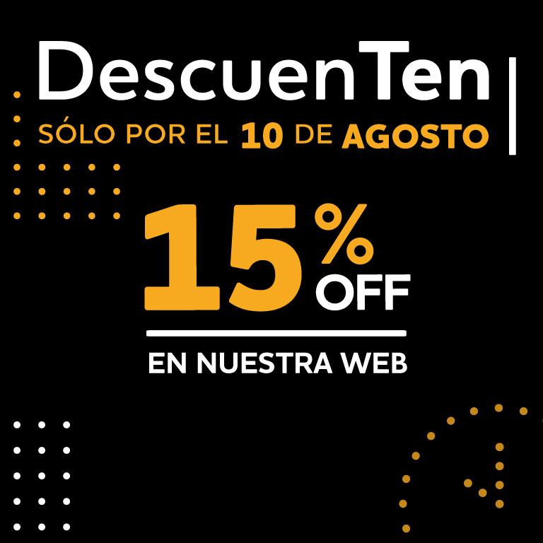 15% en toda la web