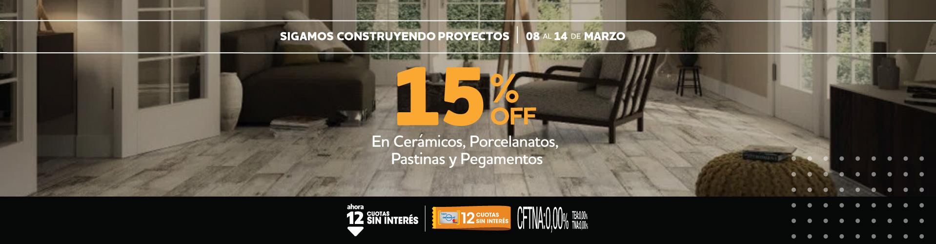 15% rubros pisos 8 al 14 marzo