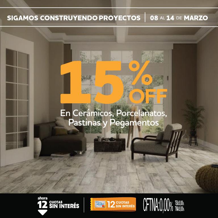 15% rubros pisos 8 a 14 marzo