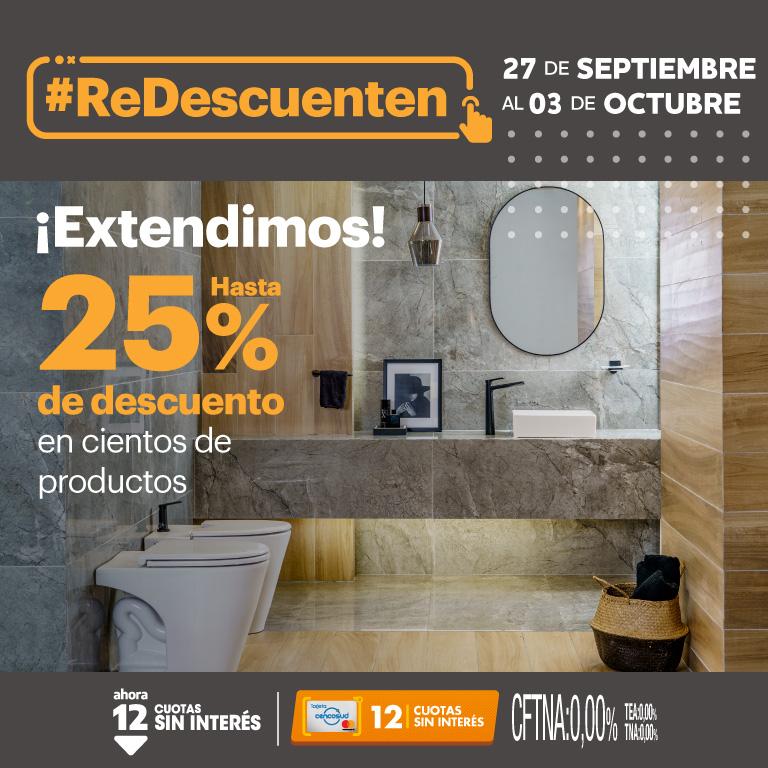 Extension Redescuenten - Hasta 25% en seleccionados 27 al 03-10
